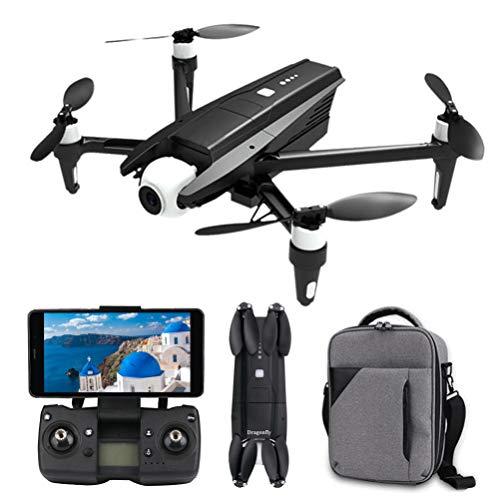 ANAN GPS Drone con Telecamera 6K HD, Pieghevole RC Quadricottero, Distanza del Telecomando di 1200m, Gimbal Auto stabilizzante a 2 Assi con luci notturne abbaglianti, Valigetta