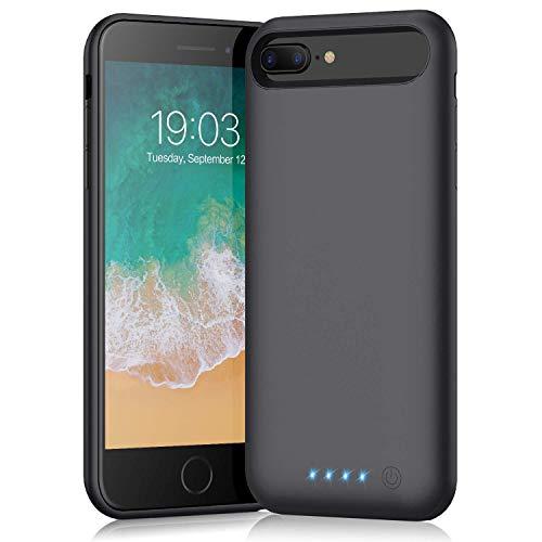 Cover Batteria per iPhone 6 Plus/6S Plus/7 Plus/8 Plus, QTshine 8500mAh Cover Ricaricabile Custodia Batteria Cover Caricabatteria Battery Case per iPhone 6 Plus/6S Plus/8 Plus/7 Plus[5.5'']Power Bank