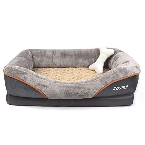 Joyelf - Cuccia ortopedica per cani in memory foam, con rivestimento rimovibile e lavabile e...