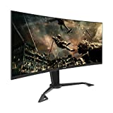 VIOTEK GN35DA 35-Inch Curved Ultrawide Gaming Monitor | 144Hz (200Hz OC) UWFHD 21:9 | HDMI 2.0 DP DVI w/FreeSync | Adjustable Swivel, Tilt & Height (VESA)
