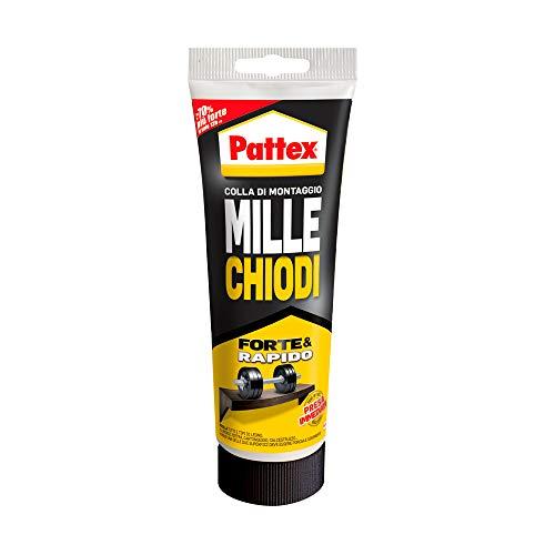 Pattex Millechiodi Forte & Rapido, adesivo di montaggio extra forte che sostituisce viti e fori al...