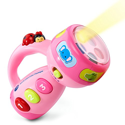 VTech Spin and Learn Color Flashlight Amazon Exclusive, Pink