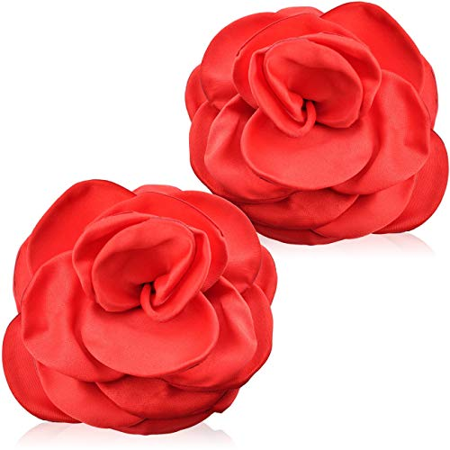 Love69Toys - elegante Nippel Aufkleber Rose - Motiv rot