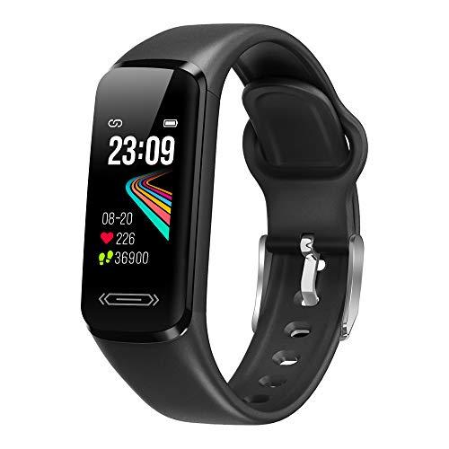 Smartwatch Orologio Fitness Uomo Donna Fitness Tracker Impermeabile IP68 Cardiofrequenzimetro Smartband Sportivo Contapassi Cronometro Calorie Sonno Notifiche Messaggi Regalo per la festa della mamma