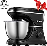 Stand mixer, Kealive 8 Speeds Electric Dough Mixer with 5 Qt Stainless Steel Bowl, Planetary Movement Technology, Powerful Kitchen Food Mixer with Dough Hook, Wire Whip, Flat Beater and Pouring Shield