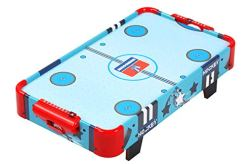 TALLO Table Top Air Hockey Game 24-inch, Electronic Strong air-Powered with 2 Pucks, 2 Pushers, Light Weight, Portable Travel-Size, air Hockey Table for Kids