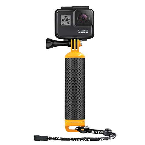 Sametop, impugnatura galleggiante impermeabile, compatibile con GoPro Hero 8, 7, 6, 5, 4, Session, 3+, 3, 2, 1, Hero (2018), Fusion, DJI Osmo Action Camera