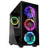 KOLINK - Observatory RGB Midi-Tower - Computergehäuse, PC Hülle, ATX Gehäuse, Tempered Glass Gaming PC Case, Dezentes Design Computer Gehäuse, Schwarz