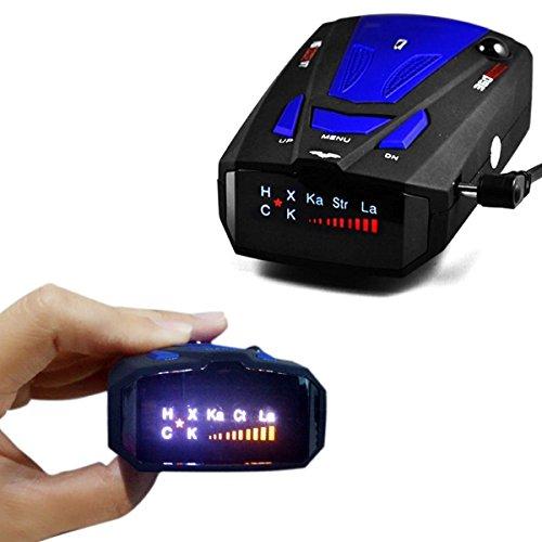 Rilevatore GPS per limite di velocità a 360 gradi, vocale, schermo V7 a infrarossi, blu
