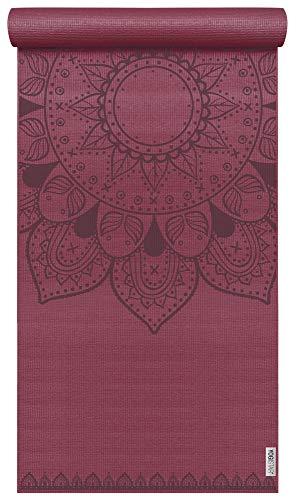 Yogistar Yogamatte Basic Art Collection Harmonic Mandala Bordeaux