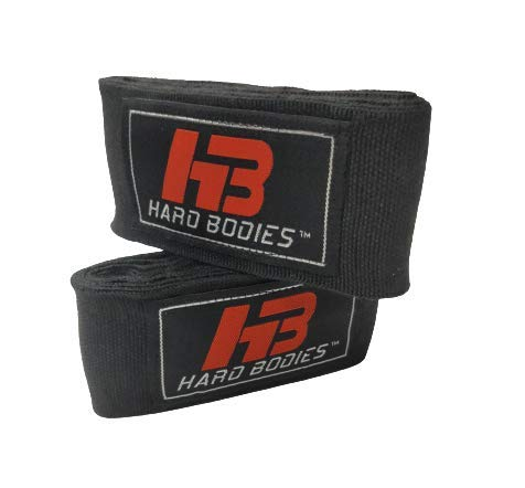 Hard Bodies HBHANWRAP108BLACK Other Boxing Hand Wraps, 2 Inch x 108 Inch (Black)