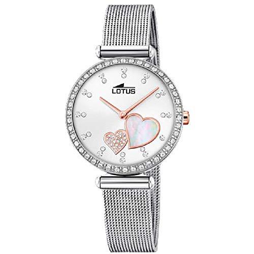Lotus Damen Analog Quarz Uhr mit Edelstahl Armband 18616/1