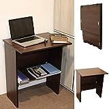 Spacecrafts Engineered Wood Office Desk; Study Desk ; Folding Desk (Wenge finish,Wenge)