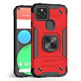 Jusy Heavy Duty Case for Google Pixel 4a with 5G with Ring Kickstand & Support Magnetic Bracket Dual...