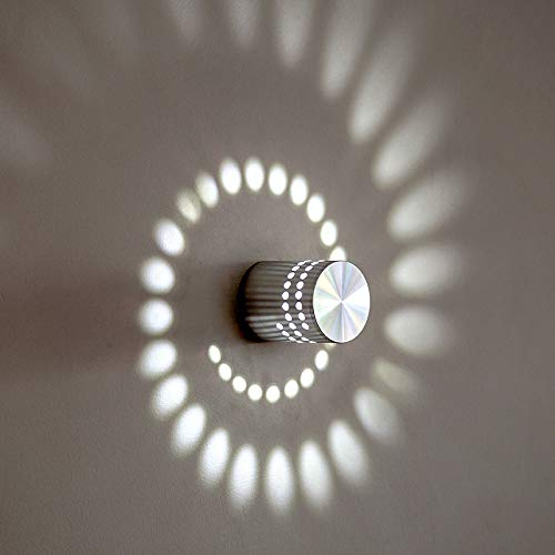 LED Lampe De Mur en Spirale en Aluminium Salon Chambre Lampe De Chevet Bar KTV Allée Couloir Lumières RGB,White