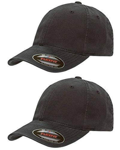 Flexfit-Garment-Washed-Cotton-Dad-Hat-Low-Profile-Stretch-Flex-Fit-Ballcap-wHat-Liner