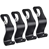 4-Pack Headrest Hooks Hanger Bag Holder for Car Seat Hooks Hangbags Hangers for Purses and Bags with Lock