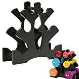 ROLLMOSS Dumbbell Rack Stand, 3 Tier Weight Rack for Dumbbells, Compact Dumbbell Holder, Weight Lifting Dumbbell Tree Weights Rack Dumbbell Storage Rack for Home Gym Organization Workout