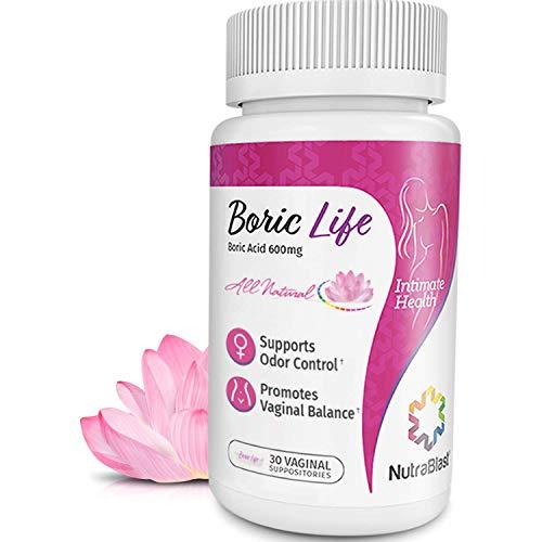 NutraBlast Boric Acid Vaginal Suppositories - 30 Count,...