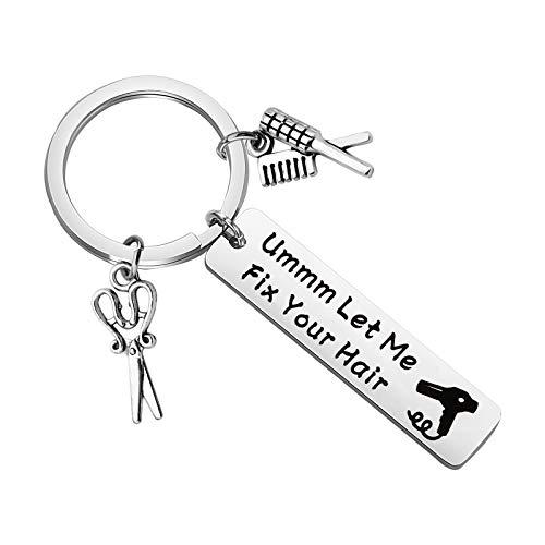 BLEOUK Hairdresser Gift Hair Stylist Keychain Funny...