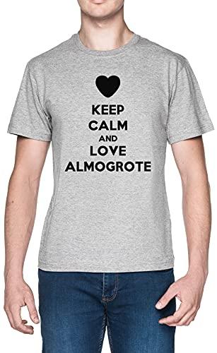 Keep Calm and Love Almogrote Gris Hombre Camiseta Tamaño XL
