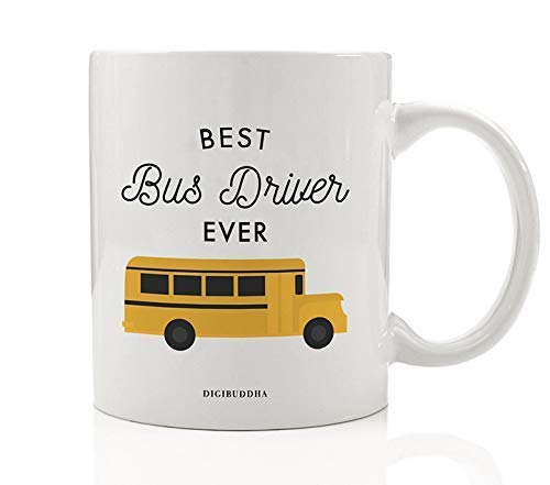 Best Bus Driver EVER Coffee Mug Thank You Gift Idea Hard...
