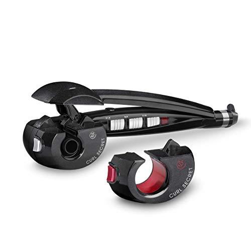BaByliss C1300E Curl Secret 2 - Rizador de pelo automático con 2 cabezales, 100% automático, doble calentador cerámico, consigue rizos, bucles y todo tipo de ondas, Color Negro