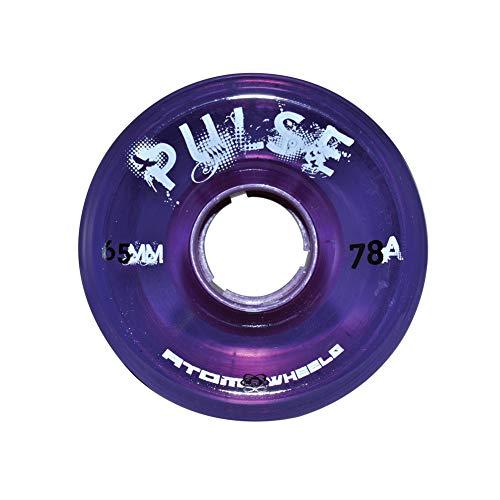 Atom Pulse Purple Outdoor Quad Roller Skate Wheels