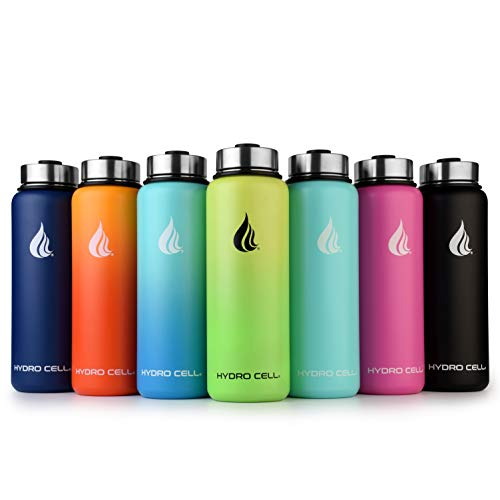 HYDRO CELL Stainless Steel Water Bottle with Straw & Wide...