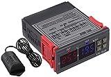 Aideepen régulateur d'humidité de la température 220 V 2 relais STC-3028 avec...