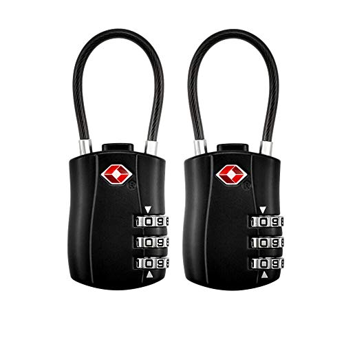 [2 Pack] TSA Cadenas à Bagages, Cadenas de sécurité à 3...