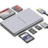 Lecteur de Carte USB, Lecteur de Carte USB 3.0 5 en 1 en Aluminium avec Lecture...