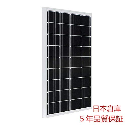 ECO-WORTHY 100W 単結晶 ソーラーパネル100W 太陽光発電【日本倉庫出荷 ソーラーパネル5年品質保証 メー...