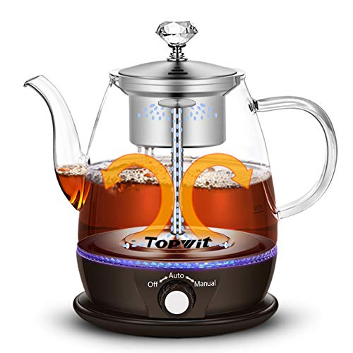 Topwit Electric Kettle, Electric Tea Kettle with New Tea-brewing Method, Keep Warm and Dual Boiling Modes Electric Tea Maker, 1L Pour Over Teapot & Hot Water Kettle with Stainless Steel Infuser