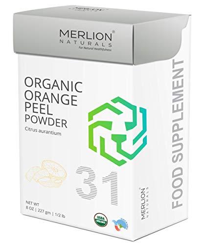 Organic Orange Peel Powder by Merlion Naturals | Citrus aurantium (8 OZ)