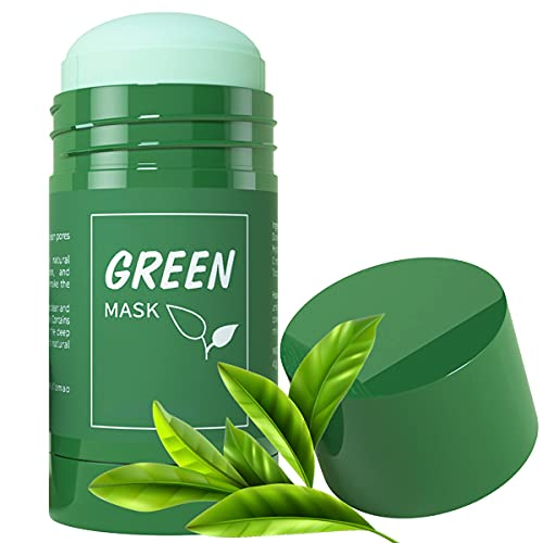 Green Tea Mask for Face, Purifying Solid Cleansing...