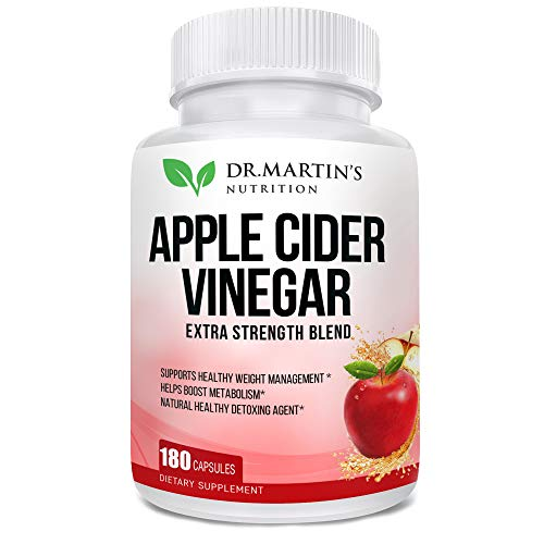 Pure 1950mg Apple Cider Vinegar 180 Capsules Supplement Extra Strength 1950mg. Healthy Weight Loss, Boosts Metabolism, Natural Detox, Pleasant Taste. 1 - My Weight Loss Today
