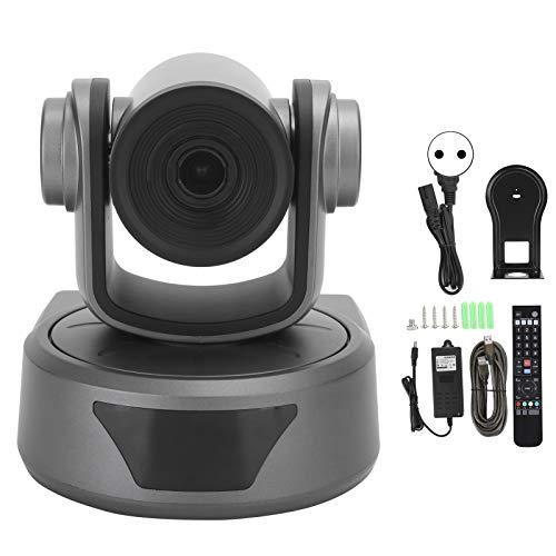 Junlucki Video Conferenza Webcam, 1080P Completo Zoom Opzionale 10X Telecamera, Fotocamera Computer Desktop Montata a Soffitto con Microfono per Windows 10/OS X/Linux (100‑240V)(io)