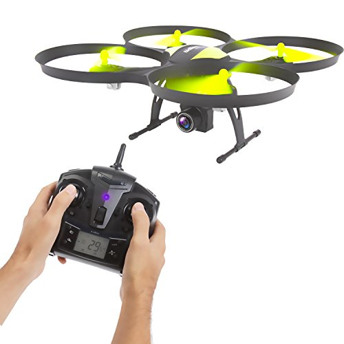 SereneLife RC Drone w/ HD Camera - RTF UAV 6-Axis Gyro Quadcopter Include 2.4 GHz Remote Controller, 7.4v Replacement Battery & Charger - Fly & Capture Sharper Outdoor Aerial Videos & Images - SLRD40