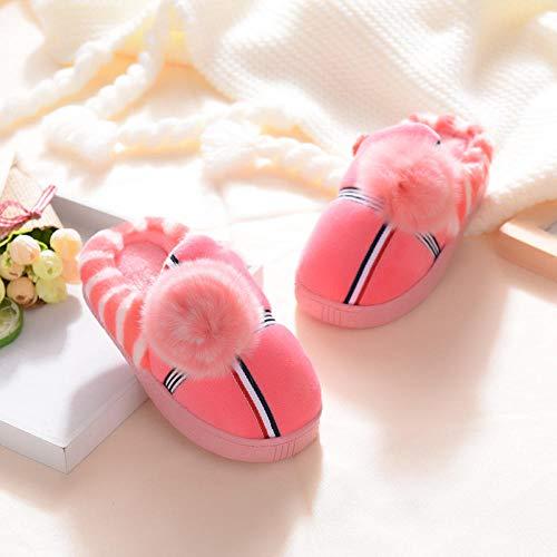 B/H Classic Slipper,Zapatillas de algodón de Dibujos Animados para niños, Zapatos de Interior para el hogar-C_23,Pantuflas Cómodas