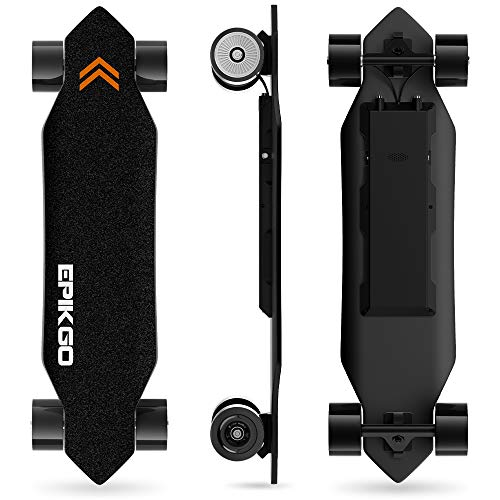 EPIKGO Electronic Skateboard with Dual-Motor Smart Skateboards [7 Ply Bamboo Board,...