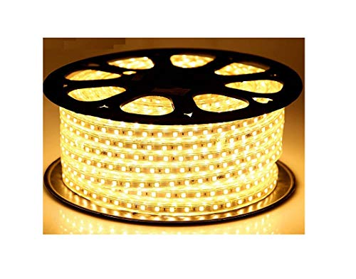 Mufasa 3014-108 Led Waterproof Strip Rope Pipe Light SMD Roll (108 Led/Mtr) (Warm White, 5 Meter)