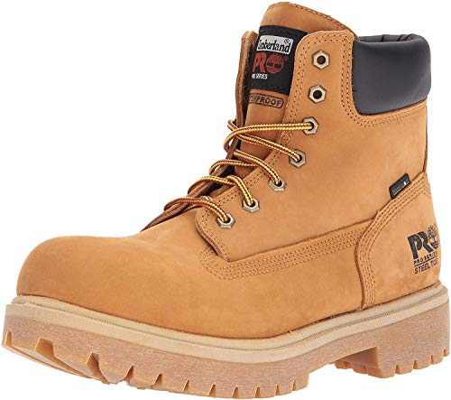 Timberland Pro Direct Attach 6' Steel Toe Work Boot Mens, Wheat, 9 Wide