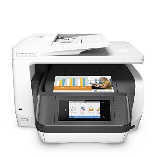 HP OfficeJet Pro 8730 AiO Inyección de Tinta térmica A4 WiFi Gris - Impresora multifunción (Inyección de Tinta térmica, Color, Color, Color, Color, Imprimir)