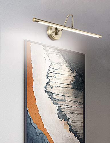 ECOBRT LED-Bilderleuchten 42CM– Moderne verstellbare Wandleuchte für zwei Bilder mit antik messingfarbigem Finish – Bilderlampe