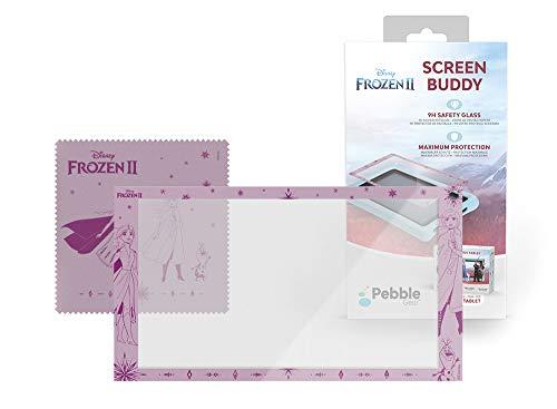 """Pebble Gear Disney Frozen 2 Displayschutzfolie für 7"""" Kinder Tablet - 9H Sicherheitsglas mit Die Eiskönigin 2-Motiv, maximaler Schutz, inkl. Reinigungstuch, speziell geeignet Tablets"""