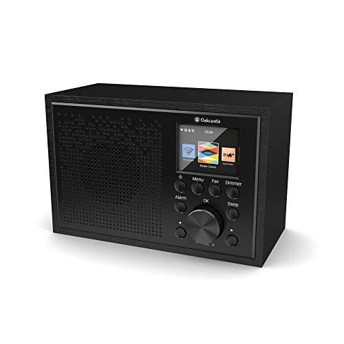 Oakcastle IR100 Radio Internet WiFi Compatible Spotify Connect avec contrôle Depuis l'application, réveil connecté avec Double Alarme, Poste Radio Portable avec Bluetooth, Line in, écran Couleur
