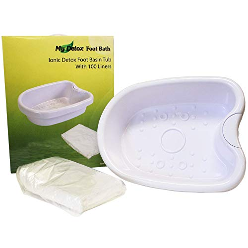 Ionic Detox Foot Bath Tub Basin for All Detox Machines with 100 Liners