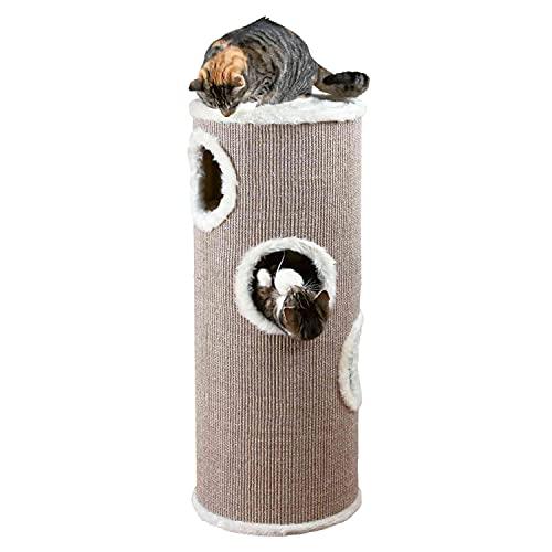 Trixie 4338 Cat Tower Edoardo, 100 cm, taupe/creme