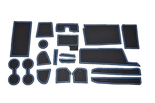 日産 セレナ C27系 青 専用設計 インテリア ドアポケット マット ドリンクホルダー 滑り止め ノンスリップ ...